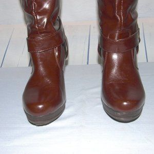 New Attitude Shoes - New Attitude Faux Leather Boots Knee-high Size 9.5